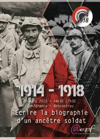 14-18 Écrire la biographie d'un ancêtre soldat