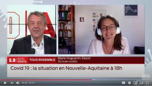 Marie Huguenin Dezot sur TV7 Bordeaux